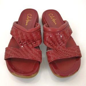 Cole Haan Red Slide Sandals Women's 8B